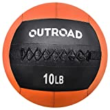 Max4out Wall Ball Medicine Balls, 10lbs Dead Weight Balls for Crossfit, Strength and Conditioning Exercises, Cardio and Core Workouts Slam Balls, Orange