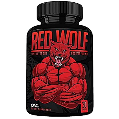 Red Wolf Testosterone Booster for Men - Enlargement Supplement - Ultimate Mens High Potency Endurance, Drive, and Strength Booster - Osyris Nutrition Lab - Made in USA