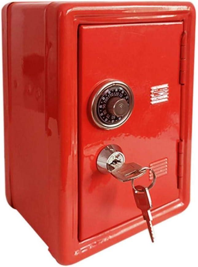Home safe mini metal Overseas parallel import regular item creative New product bank safe-WHITE piggy key