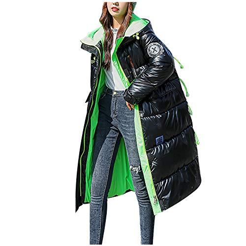 Zegeey 2021 Neue Damen Wintermode glänzend Lange Over-The-Knee Kapuze Dicke gepolsterte Jacke MantelDamen Winter Jacke Optik Kapuze Skijacke New