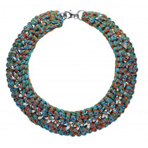 Unbekannt Maui SCC60186084-Scooter Damen-Halskette Metall, Multi, blau