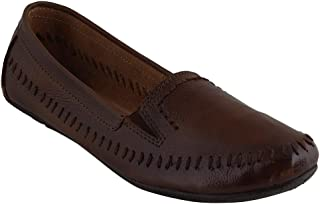pelle albero Womens Brown Comfortable Belly Shoes
