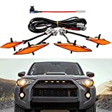 Seven Sparta 4 PCS Led Amber Lights with Fuse and Instruction for 2014-2021 Toyota 4Runner TRD Pro Grille, Including SR5, TRD off-road, Limited, TRO Pro (Amber)