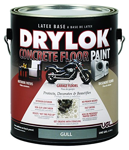 Drylok Concrete Floor Paint, 1 Gallon, Gull