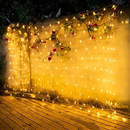 JRAVELR Luces De Hadas RAD Led Decoración Al Aire Libre Cadena De Luz Impermeable para Navidad Boda Fiesta De Cumpleaños Jardín Warm White 3x2m