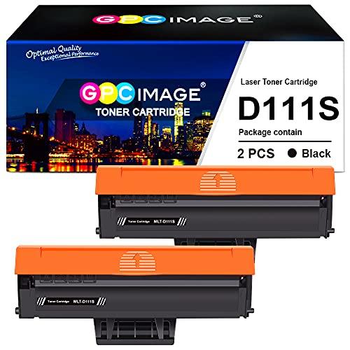 GPC Image Compatibili Cartucce di Toner Sostituzione per Samsung MLT-D111S per Xpress SL M2026W M2070W M2020W M2020 M2022 M2022W M2026 M2070 M2070F M2070FW (Nero, 2-Pack)