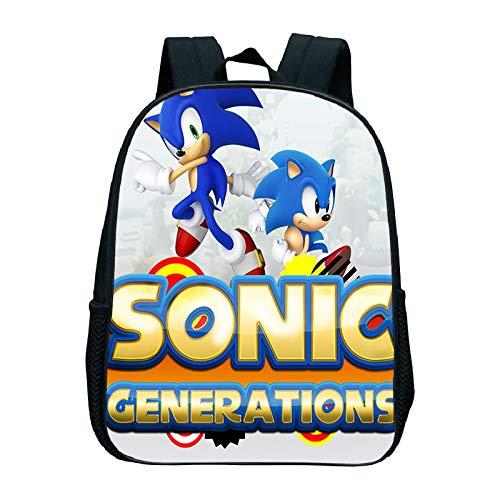MIAOGO Sonic the Hedgehog School Bag Sonic Kindergarten Bag Sonic Backpack Kids School Bag Children's Backpack Kids Backpacks Designer Backpacks Backpacks for Girls