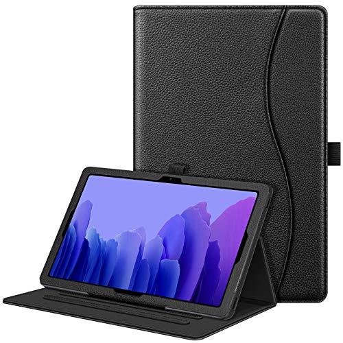 Fintie Case for Samsung Galaxy Tab A7 10.4'' 2020 Model (SM-T500/T505/T507), Multi-Angle Viewing Smart Stand Back Cover with Pocket, Black