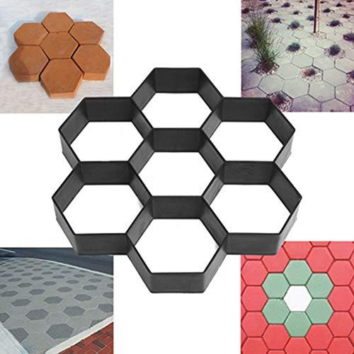 TFACR Molde de adoquines de concreto - Molde del Fabricante del Camino del Piso para el pavimento del Patio del jardín, Molde para Hormigón