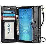 JundD Kompatibel für Galaxy Note 9 Leder Hülle, [RFID Blocking Standfuß] [Slim Fit] Robust Stoßfest PU Leder Flip Handyhülle Tasche Hülle für Samsung Galaxy Note 9 Hülle - Schwarz