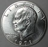 1971 Silver Eisenhower Ike Dollar Brilliant Uncirculated Stock Photo