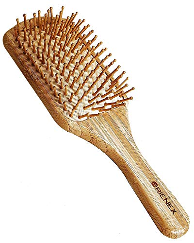 Orienex ヘアブラシ 木製櫛 美髪ケア 頭皮&肩&顔マッサージ(大)