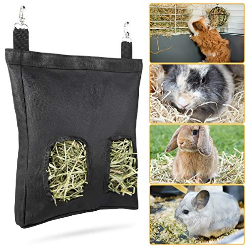 Geegoods Rabbit Hay Feeder Bag, Guinea Pig Hay Feeder Storage ,Hanging Feeding Hay for Small...