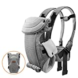 Newborn Baby Carrier, Bable Soft and Cozy Ergonomic Baby Carrier, 8-20 lbs (3.6-9 kg), for Newborn to 1 Year Old Baby, Easy to Put On, Front Backpack Carrier, Comfortably Carry Baby, Flaxen