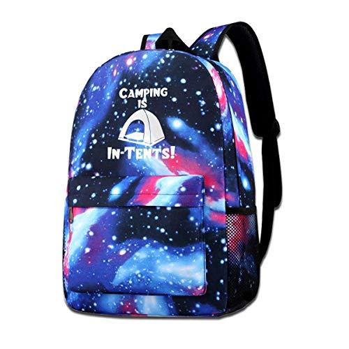 Hdadwy Camping está en Tiendas de campaña Galaxy Mochila Informal Mochila Azul Unisex Mochila de Hombro para Viajes Escolares Mochila Escolar Galaxy Sky Starry Bag Mochila