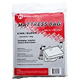 Kingplast King/Queen Mattress Bag for Moving, 1.5Mil 78' x 96' Clear Plastic Disposal Mattress Storage Bag Cover for Waterproof, Bedbugs, Dirt