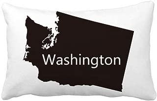 DIYthinker Washington The United States Map Throw Lumbar Pillow Insert Cushion Cover Home Sofa Decor Gift 16 inch x 16 inch