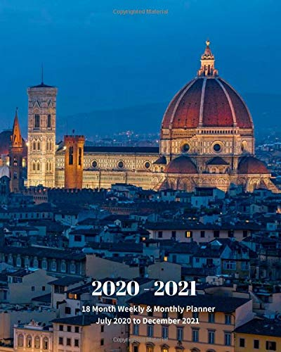 Compare Textbook Prices for 2020 - 2021   18 Month Weekly & Monthly Planner July 2020 to December 2021: Piazzale Michelangelo Florence Italy Monthly Calendar with U.S./UK/ ... 8 x 10 in.- Office Equipment & Supplies  ISBN 9798620327607 by Book Press, Dazzle