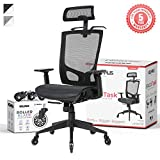 NOUHAUS ErgoTASK - Ergonomic Task Chair, Computer Chair and Office Chair with Headrest. Rolling Swivel Chair with Blade Wheels (Black)