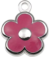 LuckyPet Pet ID Tag - Tiny Flower Jewelry Tag - Dog & Cat Tags for The Tinest Pets - Deeply Engraved on The Back Side