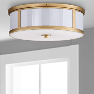 Safavieh Lighting Collection Avery Ceiling Drum Light Antique Gold 6-inch Ceiling Drum Light