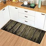 Alfombrillas de Cocina de Grano de Madera alfombras de Puerta de Entrada alfombras Decorativas para Sala de Estar alfombras Antideslizantes para Pasillo n. ° 8 60X180cm