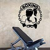 Gran club de boxeo chica guante pegatina de pared gimnasio Fitness caja de entrenamiento estudio Bar vinilo decoración del hogar 40 cm x 37 cm