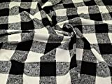 Tweed-Beschichtung, schwarz, cremefarben, Meterware