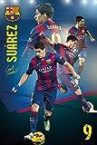 Poster Barcelona - Luis Suarez - Collage - 61 x 91.5 cm  