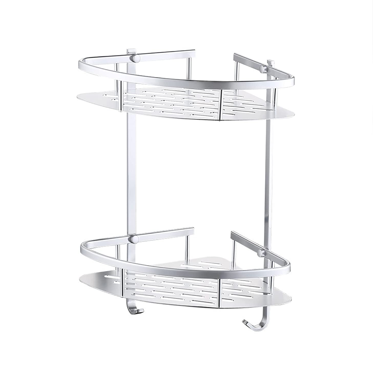 KES A4022B Tub and Shower Large Corner Basket Two Tier with Wall Mount Aluminum