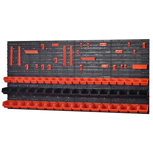 Wandregal Regal InBox orange schwarz Werkstatt Starke Lochwand (KOM-5)