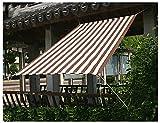 Red De Sombreo UV Y Resistente Paño De Sombra Anti-Envejecimiento Resistencia Al Desgarro Vela De Sombra Usado Para Jardín Cámping Malla Sombreadora Sun Fácil De Instalar,Brown stripes,4.8x4.8m