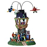 Part of the Spooky Town collection. Collectible porcelain lighted accessory building. Animated. Witch, skull and plane revolve. Battery-operated. Uses three AA 1.5 V batteries (not included). May be used with Lemax Power Adaptor 74707. Lemax 34607