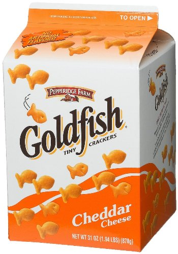 Pepperidge Farm Cheddar Goldfish Baked Snack Crackers Large 31 Ounce