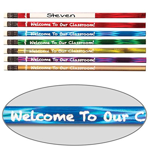 Really Good Stuff 162681 Welcome to Our Classroom Pencils