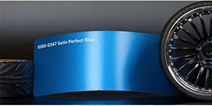 3M 1080 Satin Perfect Blue | S347 | Vinyl CAR WRAP Film (5ft x 1ft (5 Sq/ft)) w/Free-Style-It Pro-Wrapping Glove