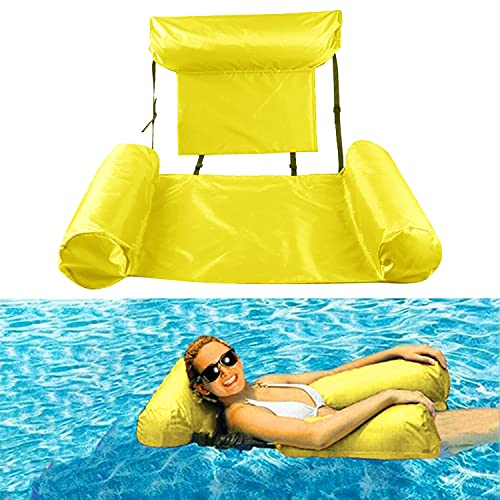 Pool Floats,Water Floating Hammock Swimming Pool Float Lounge, Multi-Purpose Pool Hammock Pool Chair Portable Inflatable Rafts Floating Chair for Adults and Kids Water Inflatable Floating Bed Sofa