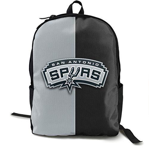GEHIYPA San Antonio Logo Rucksack Für Erwachsene Einfache Und Großzügige Rucksäcke Reisetasche Hohe Kapazität Freizeit Und Komfort One Size