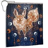 LiYang Cartoon Po_Kem-On süßer Badezimmer-Duschvorhang mit 12 Haken, wasserdichtes Polyestergewebe, modernes Badezimmer-Zubehör, 168 x 182 cm
