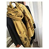 Moda Bufanda Chal Impreso floral bufanda de cachemira mujeres otoño e invierno fino de alta gama de alto nivel de cachemira cachemira cachemira Bufanda acogedora ( Color : A , Size : 100-200 cm )