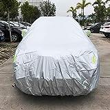 NoNo PVC Anti-Staub Sunproof SUV Car Cover mit Warnstreifen, passt Autos bis zu 4,8 m (187 Zoll) Sonnenschirm -