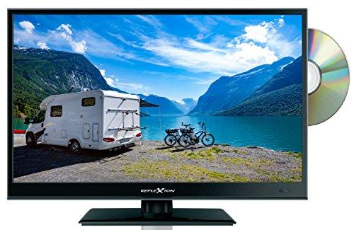 Reflexion LDD1671 39 cm (15,6 Zoll) LED-Fernseher mit DVD-Player, Triple-Tuner und 12 Volt Kfz-Adapter (HD Ready, HDMI, DVB-S / S2 / C / T2, USB, EPG, CI+, DVB-T Antenne) schwarz
