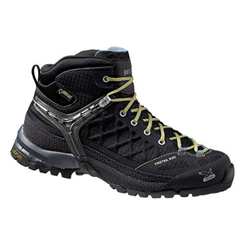 Salewa Damen WS Firetail Evo Mid Gore-TEX Trekking- & Wanderstiefel, Black/Gneiss, 36 EU