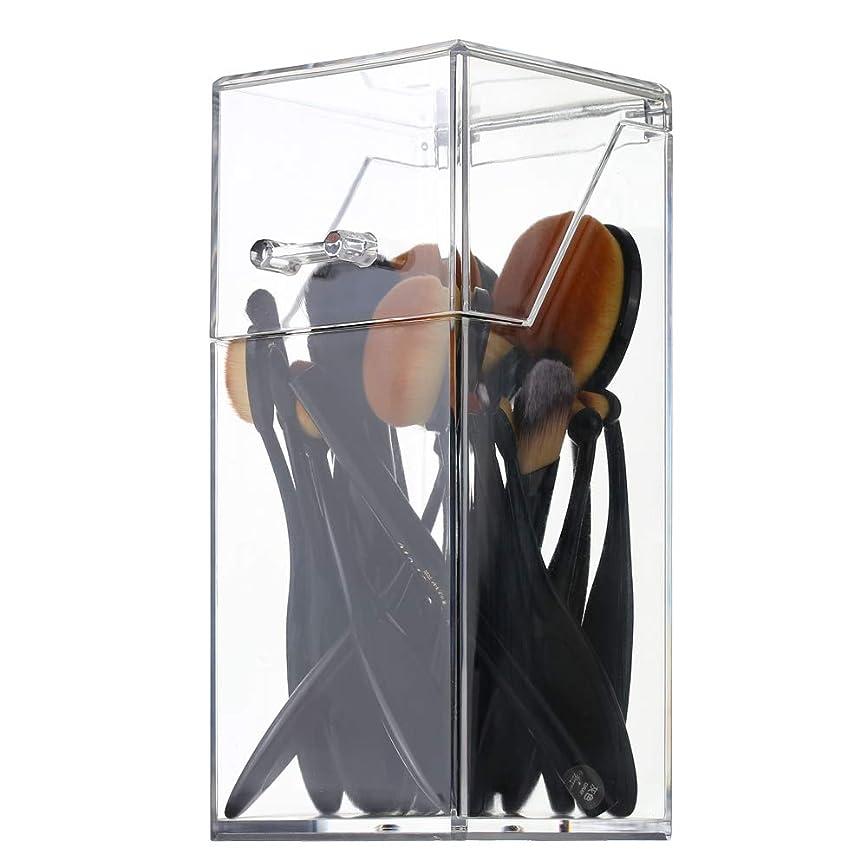 ベンチ空気味わうメイクボックス メイクブラシ収納 Decdeal 透明 ふた付き 防塵 持ち運び アクリルケース 化粧品収納ボックス 口紅 化粧ブラシ 文房具 小物入れ 卓上収納ケース