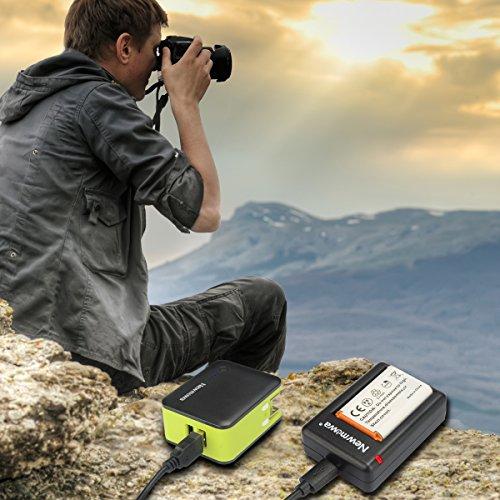Newmowa NP-BX1 Batería de repuesto (2-Pack) y Kit de Cargador Doble para Micro USB portátil para Sony NP-BX1 / M8 y Sony Cyber-Shot DSC-RX100, DSC-RX100 II, DSC-RX100M II, DSC-RX100 III, DSC-RX100 IV, DSC-RX100 V, DSC-RX100 VII/M8,Sony Cyber-shot DSC-HX50V, DSC-HX300, DSC-HX400,DSC-RX1, DSC-RX1R, DSC-RX100, DSC-RX100 II,DSC-RX100 VI, DSC-RX100M II, DSC-WX300, HDR-AS10, HDR-AS15, HDR-AS30V,HDR-AS50R, HDR-AS100V, HDR-AS100VR, HDR-AS300R,HDR-CX240, HDR-MV1, HDR-PJ275,FDR-X3000, FDR-X3000R
