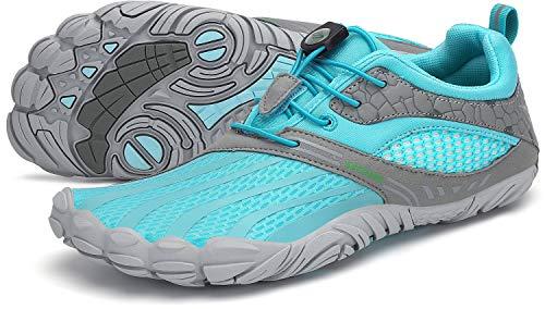 SAGUARO Barfußschuhe Herren Damen Traillaufschuhe Outdoor Training Fitnessschuhe Barfussschuhe St.1 Blau 39