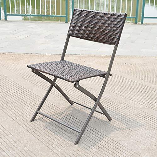 Folding table 70cm Outdoor Rattan Wicker Klapptisch Patio Porch Bistro Esstisch , Eisen Kunst Runde Klapptisch Couchtisch, (größe : Chair)