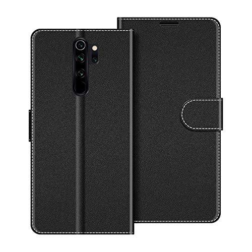 COODIO Handyhülle für Xiaomi Redmi Note 8 Pro Handy Hülle, Xiaomi Redmi Note 8 Pro Hülle Leder Handytasche für Xiaomi Redmi Note 8 Pro Klapphülle Tasche, Schwarz