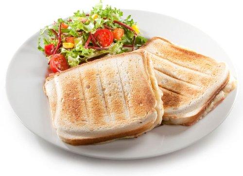 Toller de XL Sandwich Tostadora para 2grandes Deliciosos muschelförmige Sandwich Toasts hasta max. 13x 15cm–Nuevo y original)