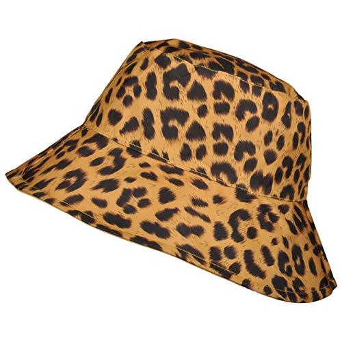 TOUTACOO, Cappello da Pioggia, Cappellino da Donna, Stampa Leopardata Reversibile (Giallo Scuro/Giallo)